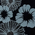 Flower Dec Black Glamour Kronos Ceramiche