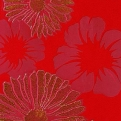 Flower Dec Red Glamour Kronos Ceramiche