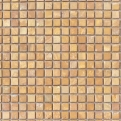 MOS.NAT. GOLDEN TRAVERTIN 1.5X1.5 30.5X30.5 Natural Stone Colori Viva