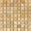 MOS.NAT. GOLDEN TRAVERTIN 2.5X2.5 30.5X30.5 Natural Stone Colori Viva