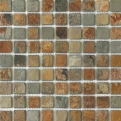 MOS.NAT. CHINA RUSTY 2.5X2.5 30.5X30.5 Natural Stone Colori Viva